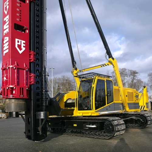 Introducing the Woltman 50PR-FF pile driving rig with PVE 5/7NL Impact Hammer